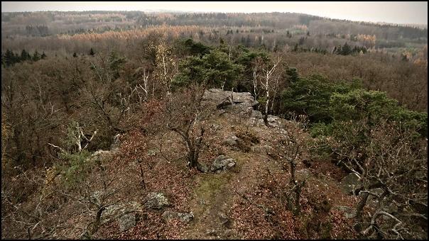 Výhled z Vysokého vrchu na západ