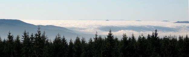 Lužické hory v mlze