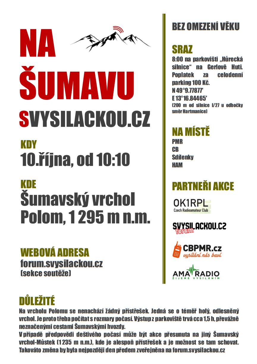 Na Šumavu svysilackou cz
